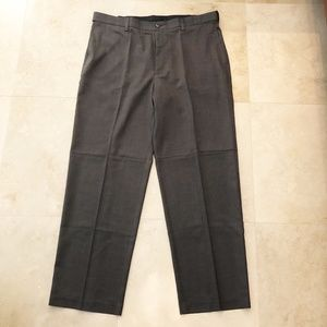 NWT Savane mens brown comfort waist dress pants